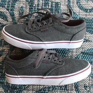 VANS Gray Low Top sneakers 6.5